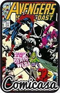 AVENGERS WEST COAST (1985) #85 Guest-starring Spider-man, [VF/NM (9.0)]