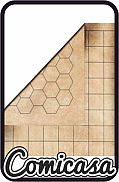 BATTLEMAT - REVERSIBLE Vinyl Battlemat with Hexagons and Squares (60 x 66 cm)
