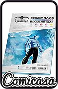 ULTIMATE GUARD - RESEALABLE COMIC BAGS : SILVER AGE [Contains: 100 high quality clear polypropylene bags, 181mm x 268 mm, 50mm resealable flap]